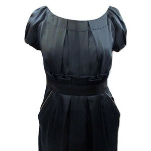 28ea9be0ad3 Phoebe Couture mini dress gunmetal with black Sz 2